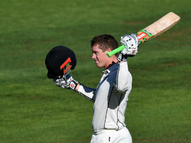 New Zealand's Henry Nicholls scores his maiden century on Day 1 against South Africa. AFP