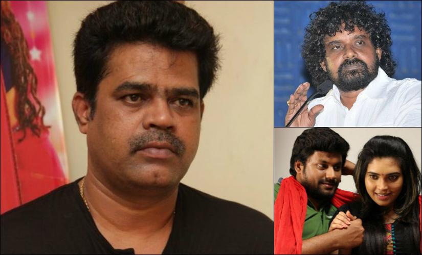 (Clockwise from right) MU Kalanijyam, Kevin Joseph with actor Ishaara and Suraaj.