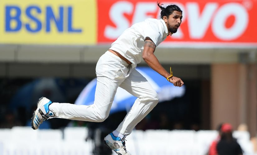Ishant Sharma in action on Day of the Ranchi test against Australia. AFP