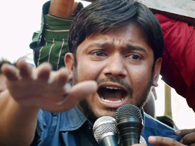 File image of JNUSU president Kanhaiya Kumar, who was charged with sedition in March last year. PTI