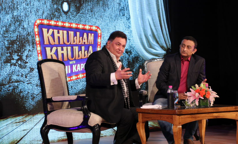 Rishi Kapoor during the 'Khullam Khulla Live' session.