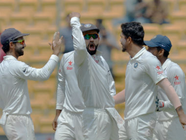 Virat Kohli-led India bounced back in style after the Pune humiliation. AFP