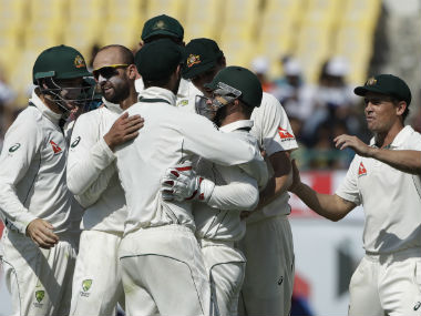 Nathan Lyon picked four quick wickets to bring Australia on track. AP