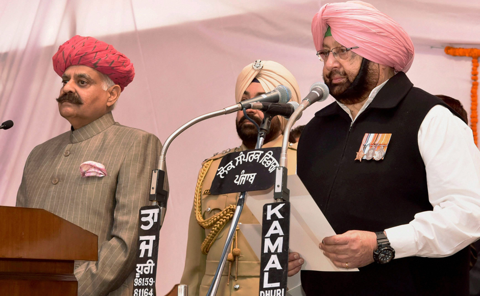 Punjab: Amarinder Singh sworn-in as CM as Congress returns to power after a decade