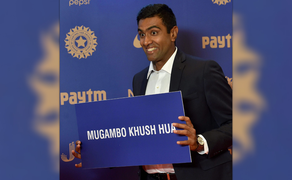 Cricketer R Ashwin during the BCCI Annual awards in Bengaluru on Wednesday. PTI Photo by Shailendra Bhojak(PTI3_9_2017_000002B)