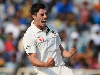 Pat Cummins bowled brilliantly on Day 3 in Ranchi. AFP