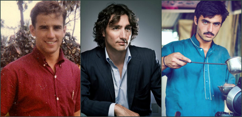 (From Left) Joe Biden, Justin Trudeau and Arshad (who shot to fame because of trending on Twitter)