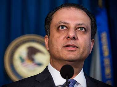 File photo of US attorney Preet Bharara. AFP
