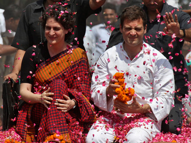 Priyanka Gandhi took on a leadership role this election. Reuters file image