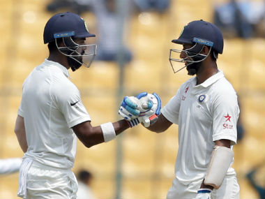 KL Rahul and Cheteshwar Pujara had added 43 runs for the second wicket at lunch. AP