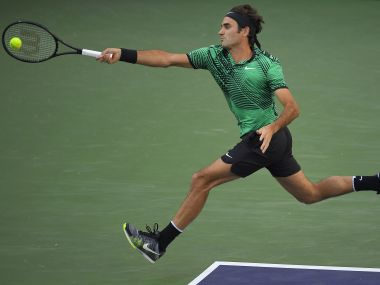 Roger Federer in action at the Indian Wells Masters. AP
