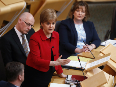 Scottish lawmakers back independence referendum call on eve of Brexit