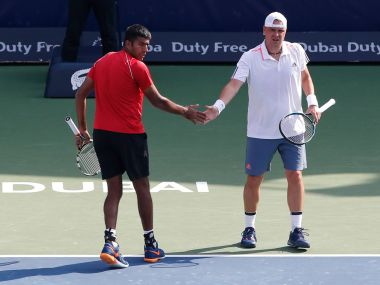 Rohan Bopanna and Marcin Matkowski advanced to the final. Image courtesy: Facebook/DDFTennis