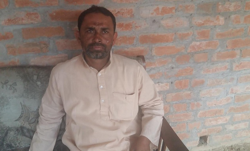 Mohammad Shakir, the elder brother of terror suspect Bada Sajid, at Sanjarpur from where two youths were killed in the Batla House encounter