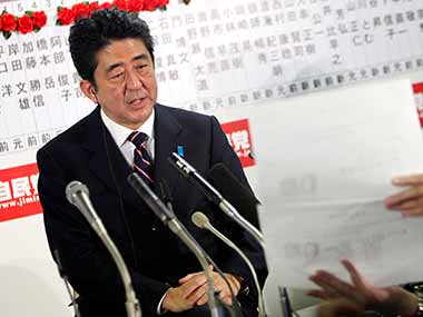 Shinzo Abe has been Prime Minister of Japan since 2012. AP file image
