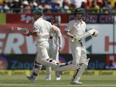 Steve Smith and David Warner were batting on 72 and 54 respectively at lunch on Day 1. AP