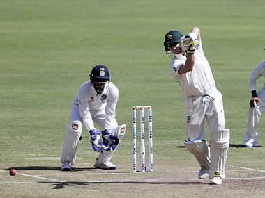 Australia's captain Steve Smith bats during first day of the third cricket test match against India. AP