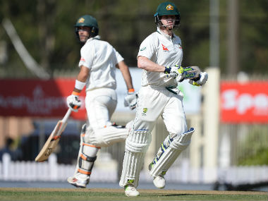 Steve Smith and Glenn Maxwell put up a brilliant 159-run partnership on Day 1. AFP