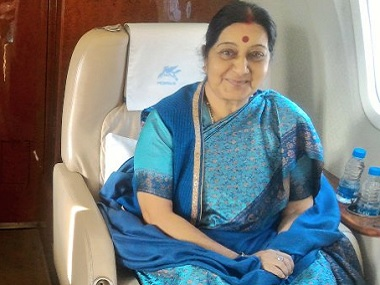 External Affairs Minister Sushma Swaraj. Photo courtesy: Twitter