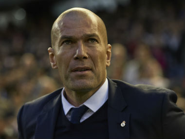File image of Real Madrid coach Zinedine Zidane. Getty Images