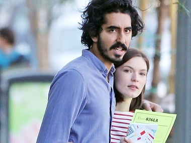 Dev Patel and Hervey. Image courtesy: Getty Images