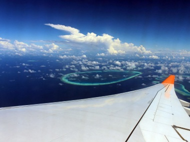 File image of Faafu atoll seen from an aircraft. Screen grab from YouTube
