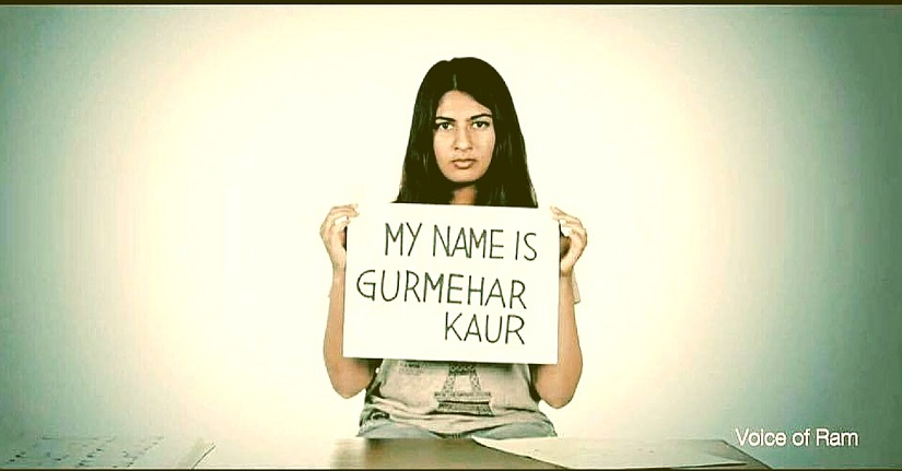 Gurmehar Kaur voiced her views on the Ramjas violence. Image Courtesy: Facebook
