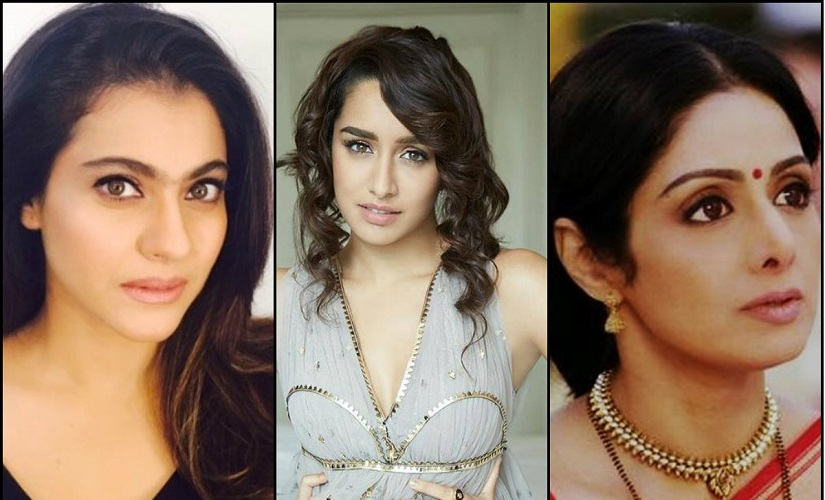 Kajol, Shraddha Kapoor and Sridevi. Images from Facebook and News 18