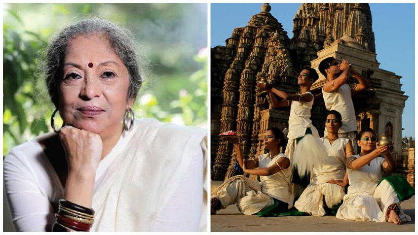 (L) Lubna Marium's Shadhona is a centre that teaches Kathak, Bharatnatyam and Manipuri; (R) The Shadhona dance troupe has travelled from Dhaka to perform at the 43rd Khajuraho Dance Festival