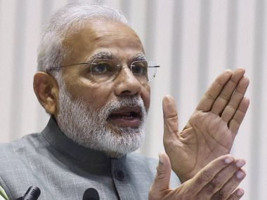 Prime Minister Narendra Modi focused on building a New India and Swachha Bharat in his address. PTI