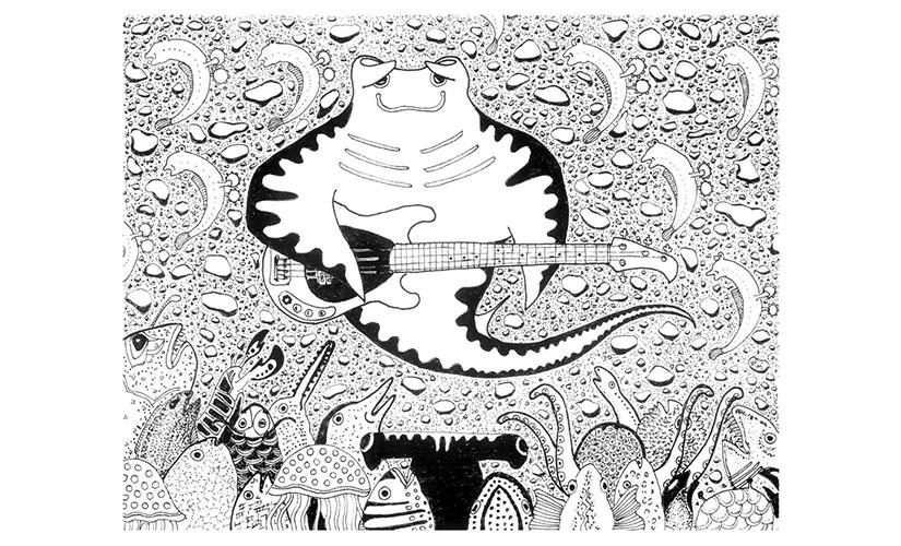 Musicman. Illustration by Nitin Mani