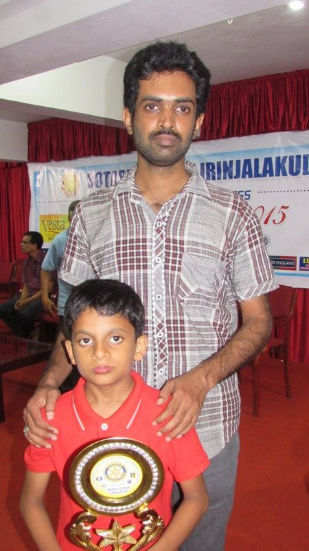 Nihal with EP Nirmal, his chess coach at Devamatha CMI Public School.
