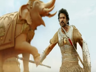Prabhas in a still from Baahubali 2: The Conclusion