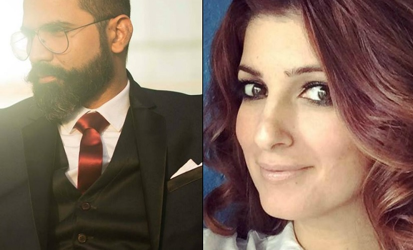 Arunabh Kumar and Twinkle Khanna. Images from Twitter