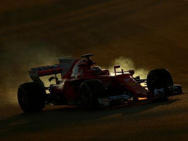 Kimi Raikkonen of Finland driving the Scuderia Ferrari SF70H on track during day four of  winter testing at  Montmelo. Getty Images