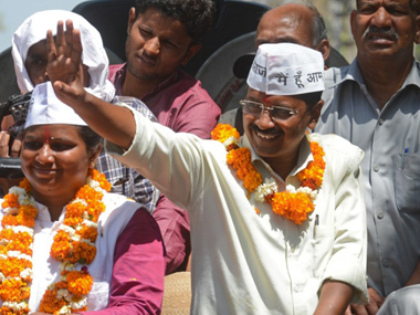 AAP swept Delhi in 2015 Assembly election, but the party has steadily lost ground since. AFP file image