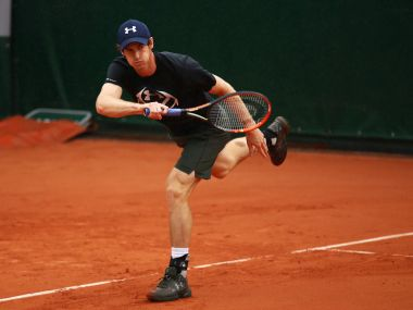 File photo of Andy Murray during a practice session. Getty