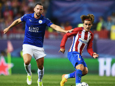 Antoine Griezmann in action during Atletico Madrid's 1st leg quarter-final clash against Leicester City. Getty Images