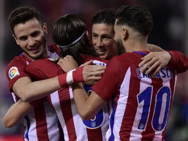 Filipe Luis scored the only goal as Atletico Madrid saw off Real Sociedad in La Liga. AFP