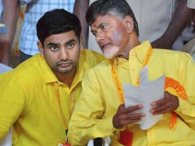 File image of Nara Lokesh and Chandrababu Naidu. PTI