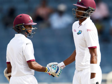 Roston Chase and Shane Dowrah steadied West Indies' innings after Mohammad Amir cleaned the openers quickly. AFP