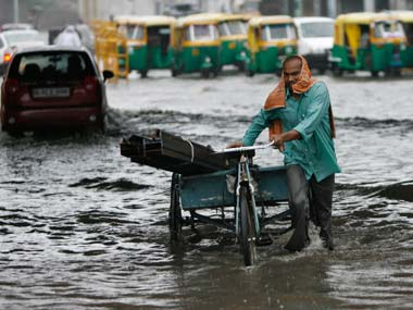 Even light showers left many parts of Delhi inundated with water. Reuters file image