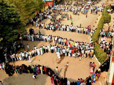 Queue at an ATM after demonetisation. PTI file photo