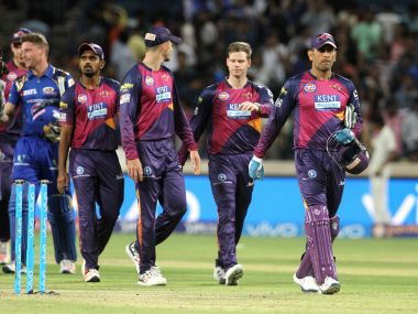 File photo of Rising Pune Supergiant MS Dhoni along with his teammates during IPL 2016. Sportzpics