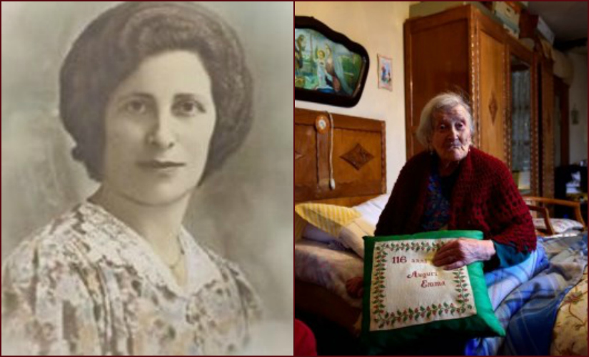 Emma Morano died at the age of 117. Images courtesy: Wikimedia Commons and AFP