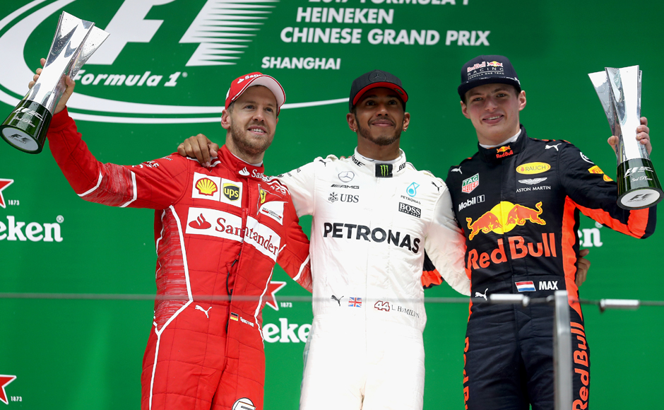 Lewis Hamilton coasts to fifth title at Chinese Grand Prix ahead of Sebastian Vettel