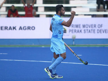 Harmanpreet Singh scored twice to guide India to a comfortable 3-0 win over New Zealand. Twitter: @HockeyIndia