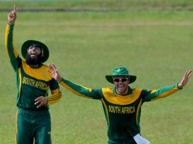 File photo of Hashim Amla and AB de Villiers. AFP