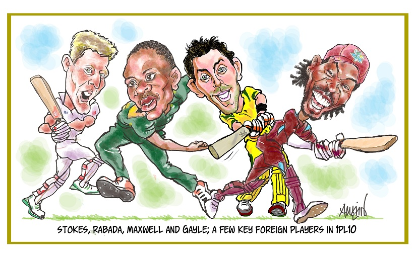 IPL completes 10 years with its 2017 edition. Illustration courtesy Austin Coutinho