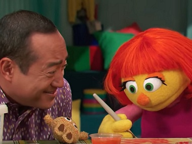 Julia in Sesame Street